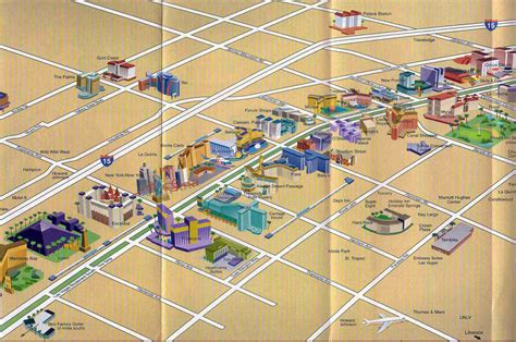 map of casinos in usa detailed map of casinos and hotels of las vegas city las