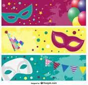 Imagen Vectorial M&225scaras De Carnaval  Descargar Vectores Gratis
