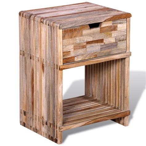 Nachttisch Schublade by Nachttisch Mit Schublade Wiederverwendetes Teakholz De