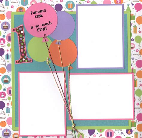 layout design for 1st birthday 1st birthday scrapbook layouts katie 1st birthday