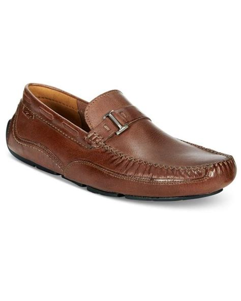 clarks mens loafers clarks clark s s ashmont bit slip on loafers in brown