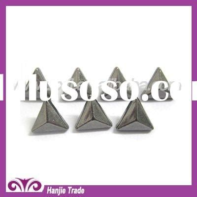 Kancing Metal Silver Triangle Triangle Rivet Stud shoes in fashion shoes in fashion manufacturers in