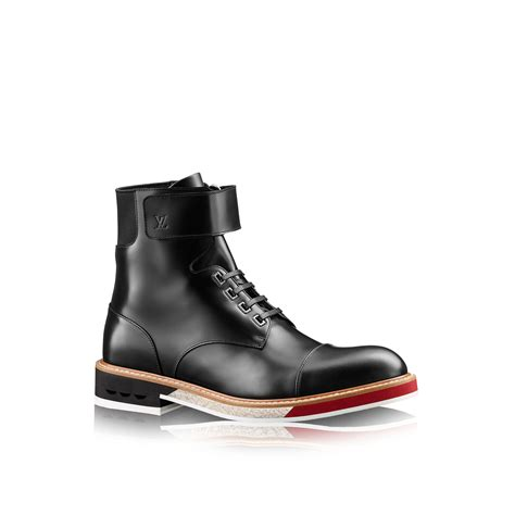 louis vuitton mens boots louis vuitton sword ankle boot in black for lyst