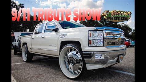 big truck with chrysler rims 9 11 tribute show big rims tuners lifted trucks hydros
