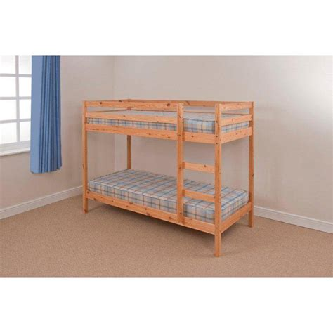 bunk beds with mattresses gardens and homes direct shaker pine bunk bed with