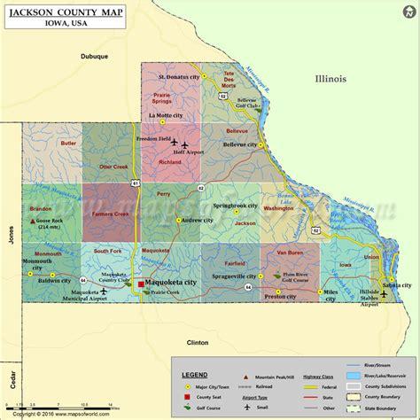 jackson usa maps jackson county map iowa