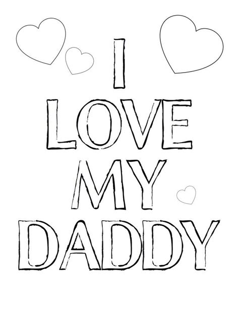 happy birthday daddy love you coloring pages i love my daddy coloring page gifting pinterest