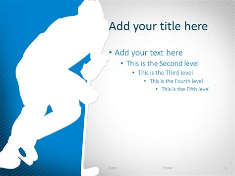 Powerpoint Templates Free Download Hockey | hockey powerpoint template blue presentationgo com