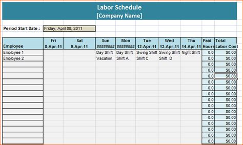 monthly staffing schedule template 8 weekly staff schedule template budget template letter