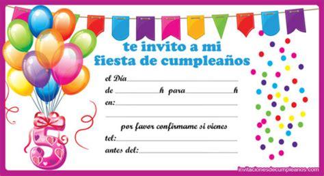 imagenes de invitaciones de cumpleaños bonitas ideas de invitaciones y recuerdos para cumplea 241 os