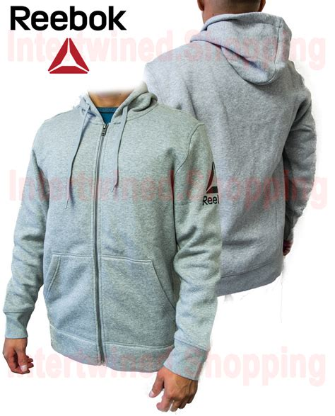 Sweater Jaket Hoodie Reebok Keren Terlaris 1 reebok mens workout jacket ready soft slim fit speedwick sweater hoodie ebay
