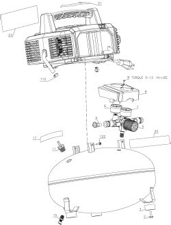 bostitch btfp air compressor parts