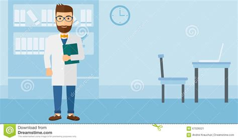 layout of doctor s office doctor in medical office stock vector illustration of