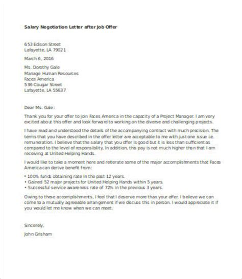 awesome collection of how to write a salary negotiation letter