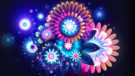 wallpaper abstract colorful flower abstract neon flowers wallpaper 3266 1920 x 1080