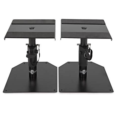 monitor stand desk desktop monitor speaker stands by gear4music pair at