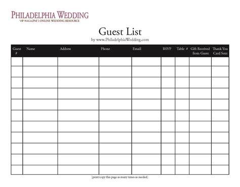 free printable wedding planner guest list wedding guest list template wedding pinterest