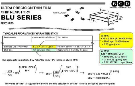 resistor aging equation resistor aging rates vs temperature dunn consultant ambertec p e p c ieee