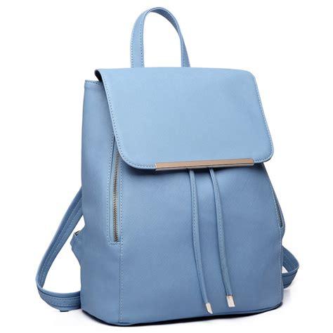 Longch Backpack Fashion Uk S e1669 miss lulu faux leather stylish fashion backpack light blue