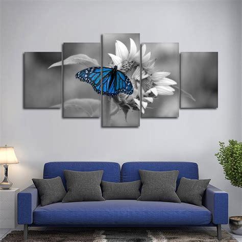 butterfly pop multi panel canvas wall elephantstock