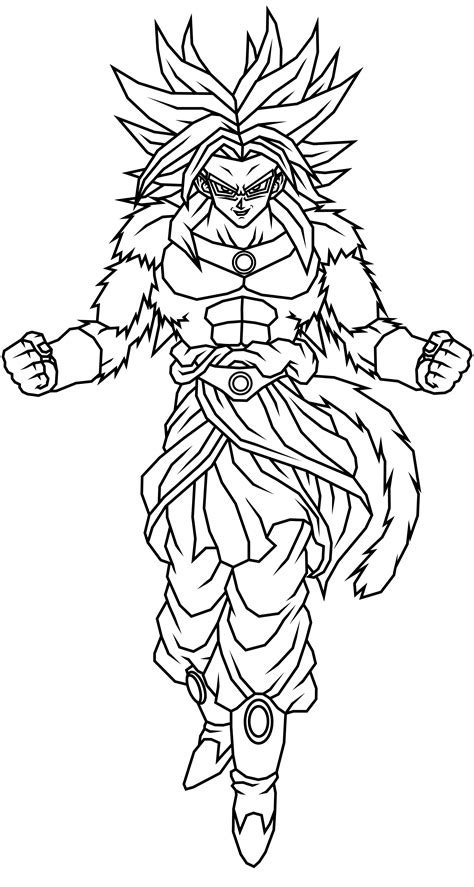 dragon ball z coloring pages of broly broly ssj4 lineart by theothersmen on deviantart