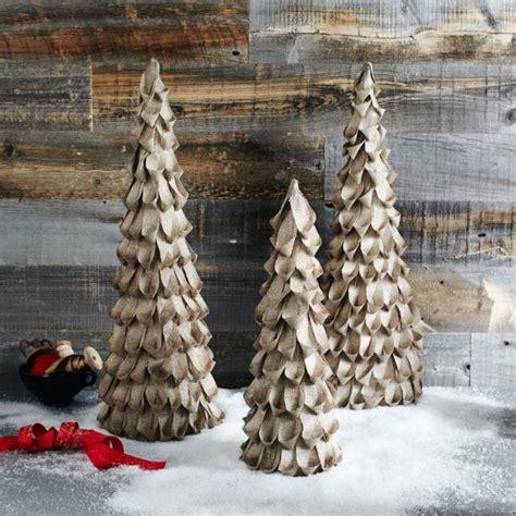 how to make a burlap christmas tree diy burlap trees my of style my of style my of style
