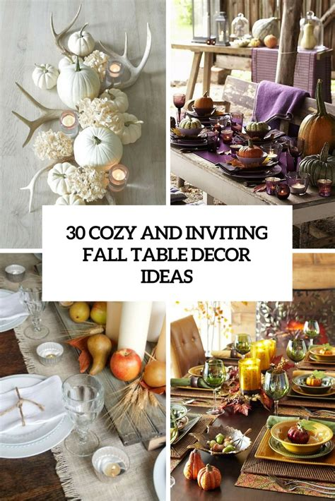 table decor ideas 30 cozy and inviting fall table d 233 cor ideas digsdigs