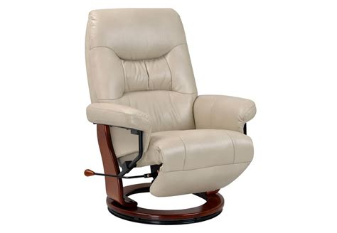 Benchmaster Chair by Benchmaster Swivel Reclining Chair In Taupe Breathable Fabric