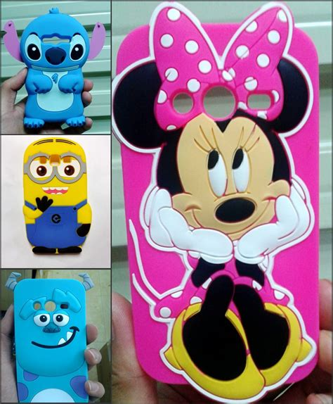 Samsung Galaxy J1 Ace 3d Stitch 4 Soft Silicon aliexpress comprar cubierta de dibujos animados en 3d stitch minions minnie mouse sulley