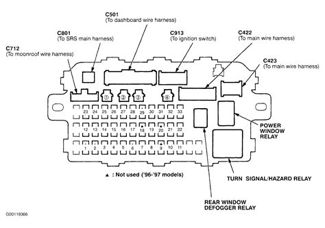 honda civic 98 fuse box diagram i a 1998 honda civic lx i lost the fuse cover with