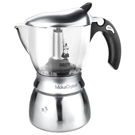 espresso maker bialetti bialetti moka crystal espresso maker 4 cup