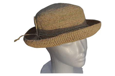 Foldable Straw Hat foldable crocheted raffia straw hat that