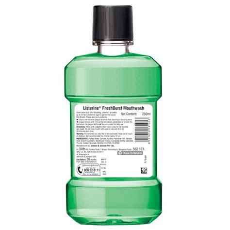 Listerine Fresh Burst 250 Ml buy listerine mouthwash freshburst 250 ml now from