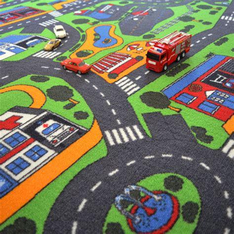 tapis chambre gar輟n voiture tapis de jeu circuit voiture ville 145 x 200 cm