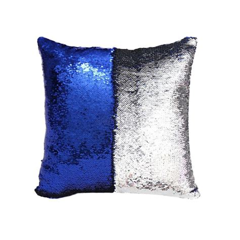 mermaid sofa cushion cover glitter sequins throw pillow