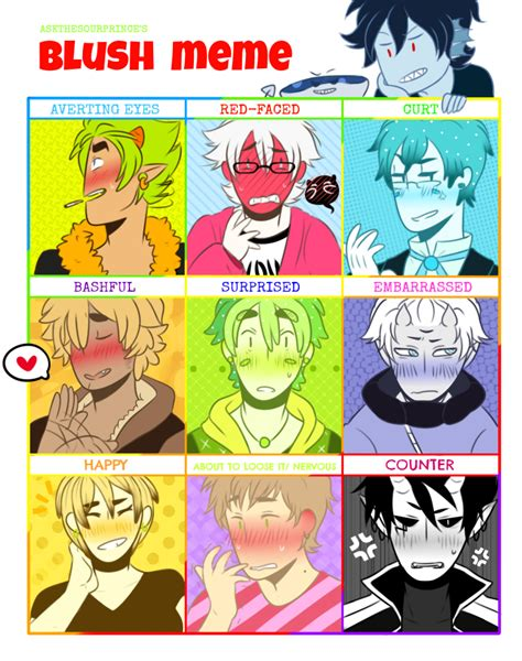 Blush Meme - blush meme by sourbein on deviantart