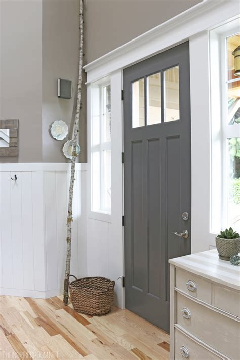 painting doors and trim different colors front door refresh the inspired room