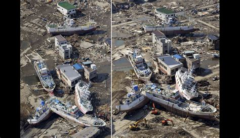 imagenes impactantes del tsunami en japon im 225 genes impactantes de jap 243 n antes y despu 233 s del tsunami
