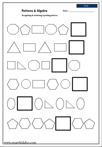 pattern continuation worksheet 17 best images about education on pinterest worksheets