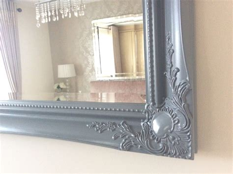 large grey shabby chic ornate decorative wall mirror  postage