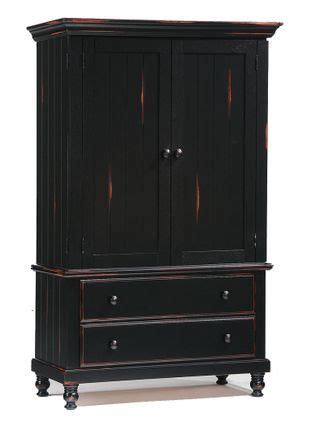 Distressed Black Armoire by Distressed Black Armoire