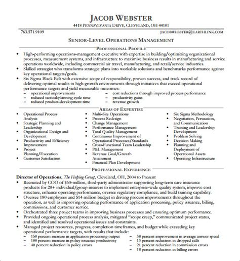 10 executive resume templates free sles exles