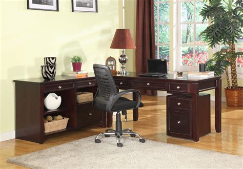 Boston L Shape Credenza Home Office Set From Parker House Home Office Furniture Boston