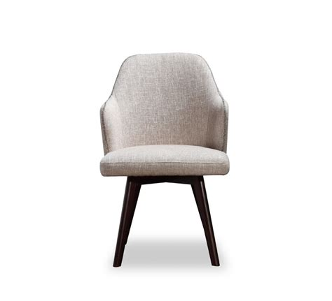a x caligari modern oak white fabric dining chair