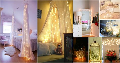 home decoration lights eye catching christmas fairy lights decor ideas for