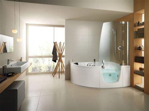Corner Bath And Shower Combo pour une salle de bain bien pens 233 e en 5 le 231 ons