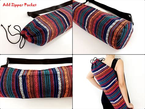 yoga sling bag pattern purple and blue tribal yoga bag discovered