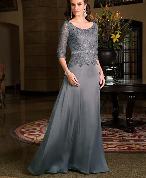 Elegant Grey Lace Grandmother Of The Bride  Ee  Dresses Ee   With