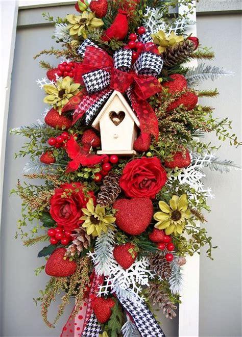 image  silk flower wreaths  swags valentine wreath