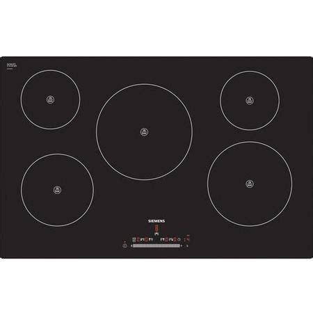 induction hob large zone siemens eh801fm17e 77cm wide touch five zone induction hob black appliances direct